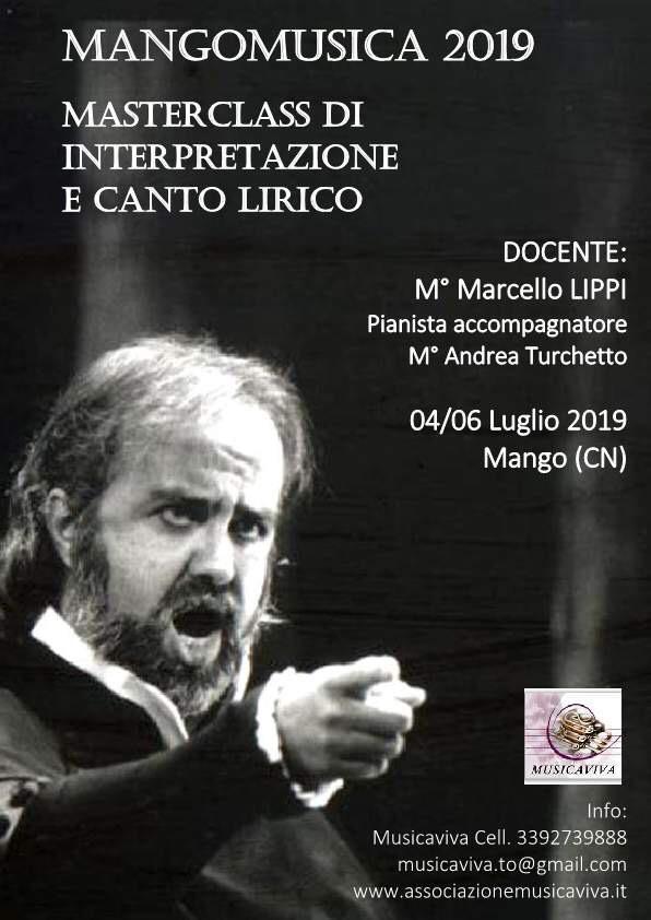 Masterclass Di Interpretazione E Canto Libero 4/6 Luglio 2019 Mango (CN)